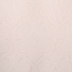 Trousseau Fabric is an embroidered damask pattern from the Boudoir Collection by P/Kaufmann. This beautiful large-scale fabric features an elegant damask embroidered over a soft pastel base color woven from a lightweight blend of cotton and polyester.