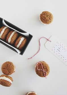 Ginger Snap Whoopie Pies made in collaboration with @boldwithbutter