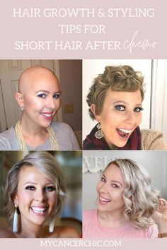 STYLING SHORT HAIR AFTER CHEMO - Struggling to grow & style your short hair after chemo? Here are all the tips and products you need to grow and style your hair after chemo. Very Short Hair, Short Hair Cuts, Short Hair Styles, Hair Growth After Chemo, Dying Your Hair, Hair Starting, Color Your Hair, Hair Regrowth, Shaved Hair