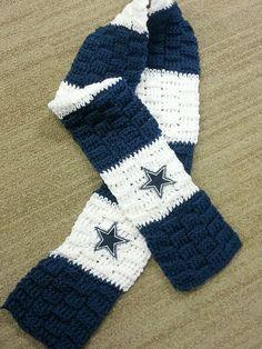 Handmade #NFL #Dallas Cowboys Crochet Scarf from $25.0