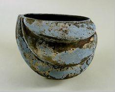 Katsumata Chieko, 1983  'Helmet Shaped Vase'  with Textured Patination | Photograph by Robert Lorenzson, New York.