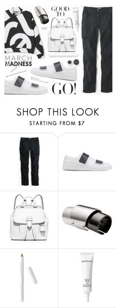 """""""March Madness"""" by katarina-blagojevic ❤ liked on Polyvore featuring J.Crew, Acne Studios, MICHAEL Michael Kors, Maison Margiela, Elizabeth Arden, Smashbox and Hedi Slimane"""