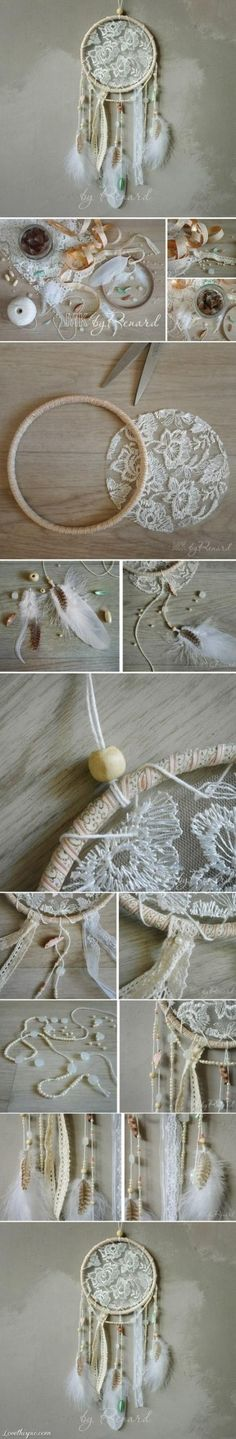 19 Great DIY Tutorials for Home Decoration- Simple dream catcher