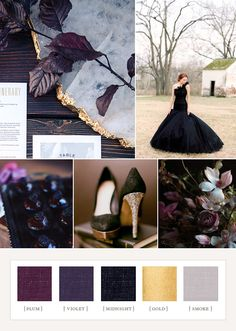 100 Layer Cake color board: Plum Fantasy