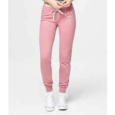 Aeropostale 87 Jogger Sweatpants ($14) ❤ liked on Polyvore featuring activewear, activewear pants, jogger sweatpants, relaxed fit sweatpants, sport sweatpants, slim fit sweatpants and aéropostale