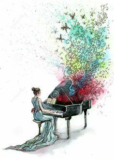 Illustration of night, instrument - 21569954 - Piano stock illustration. Illustration of night, instrument – 21569954 Piano. Arte Do Piano, Piano Art, Piano Music, Drawing Piano, Music Drawings, Art Drawings, Music Painting, Illustration, Music Love