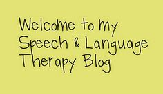 Great speech therapy blog