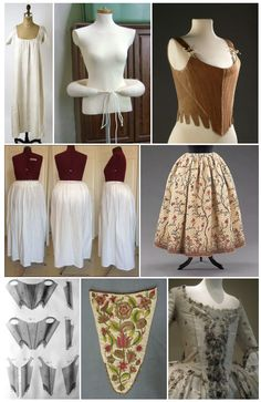 Elements of 18th century dress costuming per Terry Dresbach's blog. Very informative and great images.