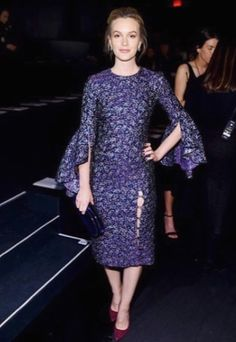 Leighton Meester Photos Photos: Prabal Gurung - Front Row - February 2017 - New York Fashion Week: The Shows Leighton Meester, Robes Western, Western Dresses, Camilla Belle, Zoe Kravitz, Blake Lively, Katy Perry, Celebrity Outfits, Celebrity Style