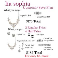 lia sophia Customer Save Plan fw14