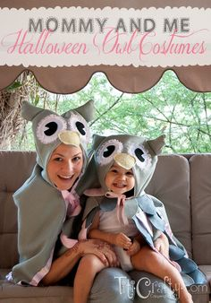 TitiCrafty by Camila: Mommy & Me DIY Halloween Owl Costumes