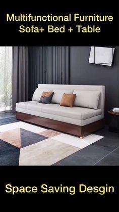 Sofa Bed Design, Living Room Sofa Design, Bedroom Furniture Design, Sofa Furniture, Sofa Bed For Small Spaces, Furniture For Small Spaces, Small Space Bed, Multifunctional Furniture Small Spaces, Small House Interior Design