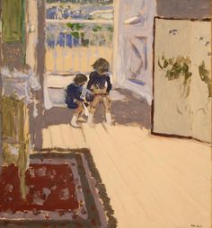 poboh:  Children in a Room, 1909, Édouard Vuillard. French (1868 - 1940)