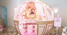 Ever wondered how it feels like stepping into a pumpkin carriage? now you can step inside and experience a moment of bei. Bed For Girls Room, Girl Room, Girls Bedroom, Bedroom Decor, Room Kids, Princess Bedrooms, Princess Room, Pink Princess, Dream Rooms