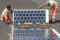 La France va construire 1.000 kilomètres de routes solaires d'ici à 2021