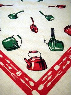 Vintage kitchen towel.  Another familiar one from my childhood.
