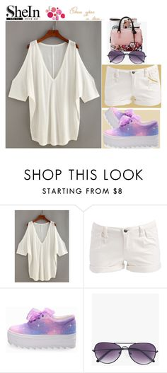 """SheIn"" by angelihenkle ❤ liked on Polyvore featuring Pieces, Boohoo and Clinique"