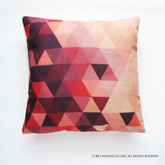 Plum mosaic print cushion cover - awesome Etsy listing at https://www.etsy.com/listing/173837058/plum-mosaic-triangles-pillow-cover