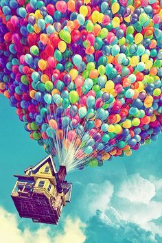 Wallpaper - Disney Up ~ rainbow balloons ~ iPhone backround Up Pixar, Art Disney, Disney Kunst, Disney Love, Cute Backgrounds, Cute Wallpapers, Wallpaper Backgrounds, Cool Wallpapers Whatsapp, Wallpaper Samsung