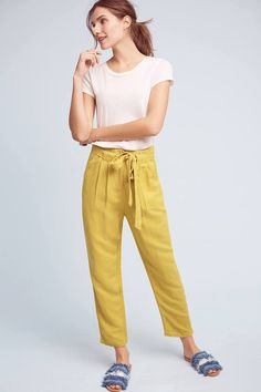 Mo:Vint Pleated Tie-Waist Pants  Can't wait for warm weather these pants will be perfect.