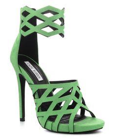 Another great find on #zulily! Green Cutout Meg Sandal #zulilyfinds