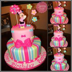 Minnie cake with a twist (bows) :)