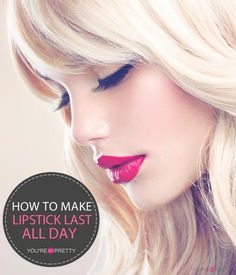 How To Make Your Lipstick Last All Day | Makeup tutorials and best makeup tips at You're So Pretty | #youresopretty | youresopretty.com