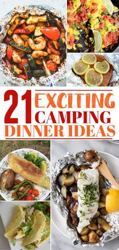 There is more to campfire cuisine than a hot dog and a stick. Raise the bar on your next fireside meal with these 20 easy camping dinner ideas! Campfire Dinner Recipes, Vegetarian Camping Recipes, Tailgating Recipes, Campfire Food, Grilling Recipes, Easy Dinner Recipes, Dinner Ideas, Camping Food Make Ahead, Camping Meals