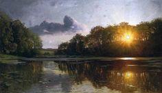 Датский художник Peder Mork Monsted ( 1859 - 1941) - Reflections of Spring.. Обсуждение на LiveInternet - Российский Сервис Онлайн-Дневников