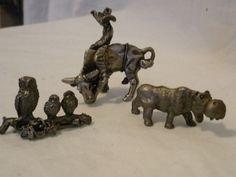 #3582-Three (3) miniature pewter figurines- - http://get.sm/yT3Wyyc #tradebank General Merchandise,Hamilton ON