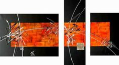 Impresionante colección de 30 cuadros trípticos abstractos modernos. | Mil Ideas…