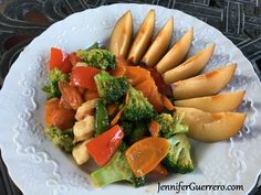Jen's Garlicky Shrimp Stir Fry. JenniferGuerrero.com Garlicky Shrimp, Shrimp Stir Fry, Paleo, Keto, Snap Peas, Fish And Seafood, Whole30, Healthy Dinner Recipes, Broccoli