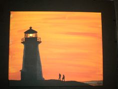 Simple yet stunning silhouette painting