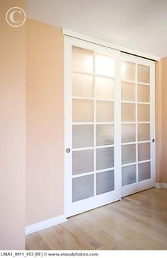 Pretty closet doors - this would be great as doors between our sink are and the rest of the bedroom.