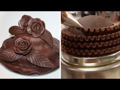 Cake Decorating Border -- Over-Piped Double Reverse Shell Border - YouTube