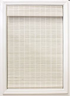 """Amazon.com: Radiance White Bayshore Matchstick Shade-34 in. W L Bamboo Blinds, Roman, Cordless Shades, 34"""" x 64 : Home & Kitchen Matchstick Blinds, Bamboo Blinds, Wood Blinds, Wood Valance, Roman Blinds, Bamboo Roman Shades, Cordless Roman Shades, Diy Roman Shades, Privacy Shades"""