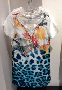 A printed shift dress is so on trend at #nicci