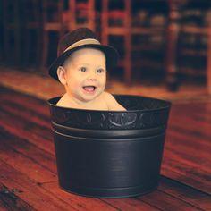 Baby in a Bucket- Cute Photo Idea!