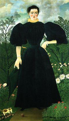 Henri Rousseau - Portrait de Mme. M. (1896)