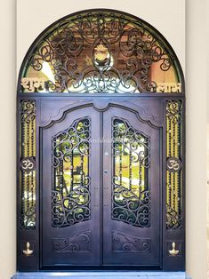 Did you know our collection of solid iron entry doors is fabricated from top-grade materials to be both durable and attractive? 💡 About this design: Custom Iron Door w/Transom ☎️️ 877-205-9418 🌐 www.iwantthatdoor.com Wrought Iron Doors, Entry Doors, Furniture, Design, Home Decor, Collection, Decoration Home, Wrought Iron Gates, Entrance Doors