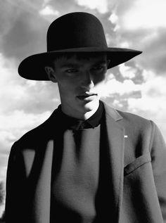 Black Panama Wool Hat