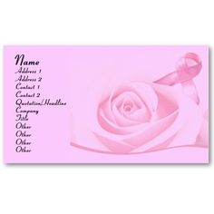 $16.95 per pack of 100 #businesscards #zazzle #elenaindolfi   Breast Cancer Awareness Business Card by elenaind