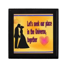 Seek our Place in Universe Keepsake Boxes