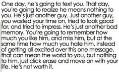 If I would have read this a year ago, I wouldn't have believed it. It's amazing how time heals wounds and changes people