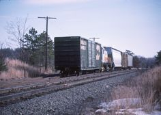Medfield Junction. Bay Colony Railroad. February 16, 1985. Switching at Conrail interchange.