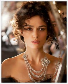 Movie: Joe Wright's Anna Karenina, 2012 Actress: Keira Knightley Jewelry: This triple-string necklace from Chanel with white gold and diam...