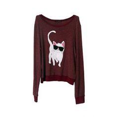 bahaha bad ass cat sweater