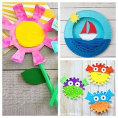 If you need a fun and inexpensive way to keep the kids busy this summer, check out these adorable summer paper plate crafts for kids!