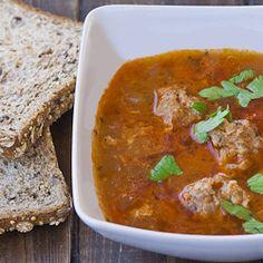 Romanian Meatball Soup (Ciorba de Perisoare) - Jo Cooks - I Cook Different Sicilian Recipes, Greek Recipes, Soup Recipes, Cooking Recipes, Recipies, Romanian Food, Romanian Recipes, Jo Cooks, Tasty Meatballs