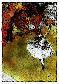 L'etoile or La Danseuse sur la Scene - The Star or Dancer on Stage - pastel on paper painting by Edgar Degas in rendition Edgar Degas Artwork, Dandelion, Dancer, Stage, Pastel, Flowers, Painting, Cake, Dandelions